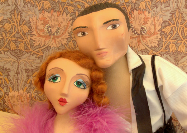 1920's Boudoir doll couple